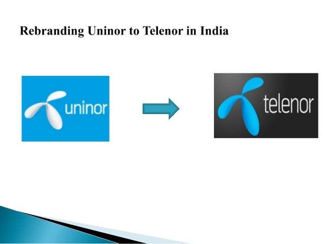Rebranding uninor to telenor in india