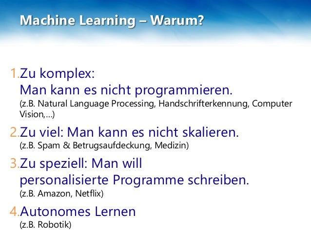 Machine Learning Muss ich jetzt Machine Learning lernen?