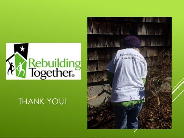 2015 Rebuilding Together Greater Newport Rhode Island
