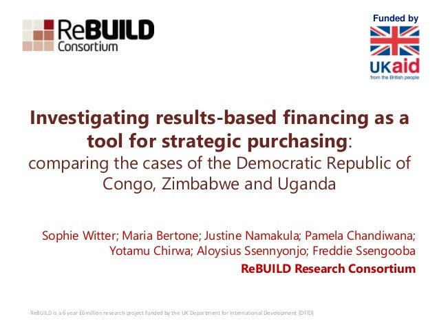 ReBUILD is a 6 year £6million research project funded by the UK Department for International Development (DFID) Investigat...