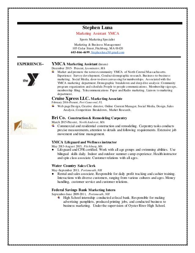 stephen luna marketing  u0026 management resume
