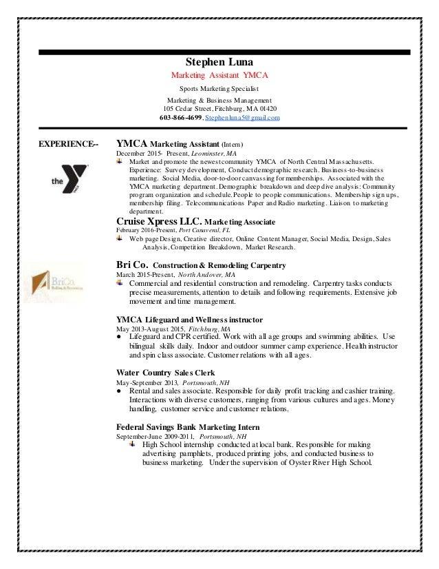 Stephen Luna Marketing & Management Resume