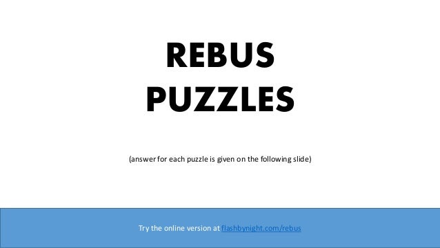 picture about Rebus Puzzles With Answers Printable named Rebus puzzles