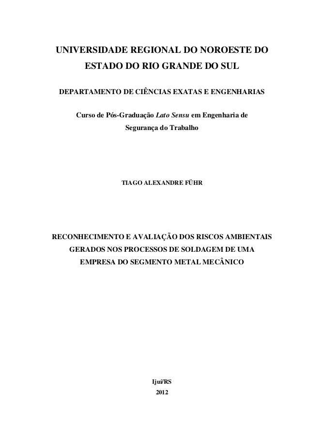 fda2c13ea1610 0 UNIVERSIDADE REGIONAL DO NOROESTE DO ESTADO DO RIO GRANDE DO SUL  DEPARTAMENTO DE CIÊNCIAS EXATAS ...