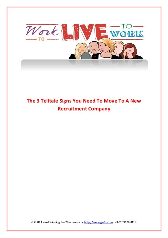 GSR2R Award Winning Rec2Rec company http://www.gsr2r.com call 0203178 8118The 3 Telltale Signs You Need To Move To A NewRe...