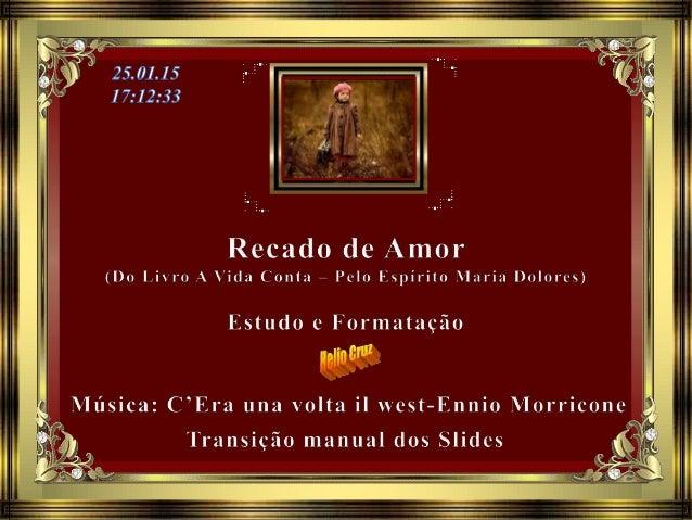 Maria Dolores, semeando paz e luz, nos conta uma de suas observações: Chama-se Aurora a nobre companheira, Uma das que enc...