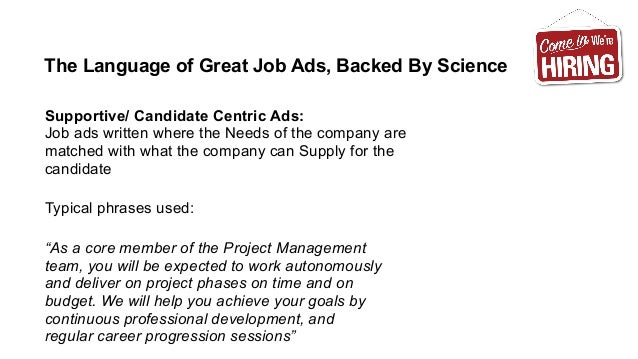 How to Write Killer Job Ads (The Science of Recruitment Advertising)