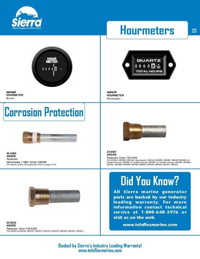 Westerbeke 46622 Sierra International 23-3306 Marine Generator Parts Impeller Kit
