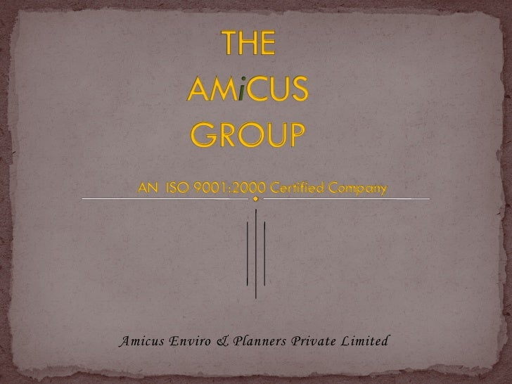 Amicus Enviro & Planners Private Limited