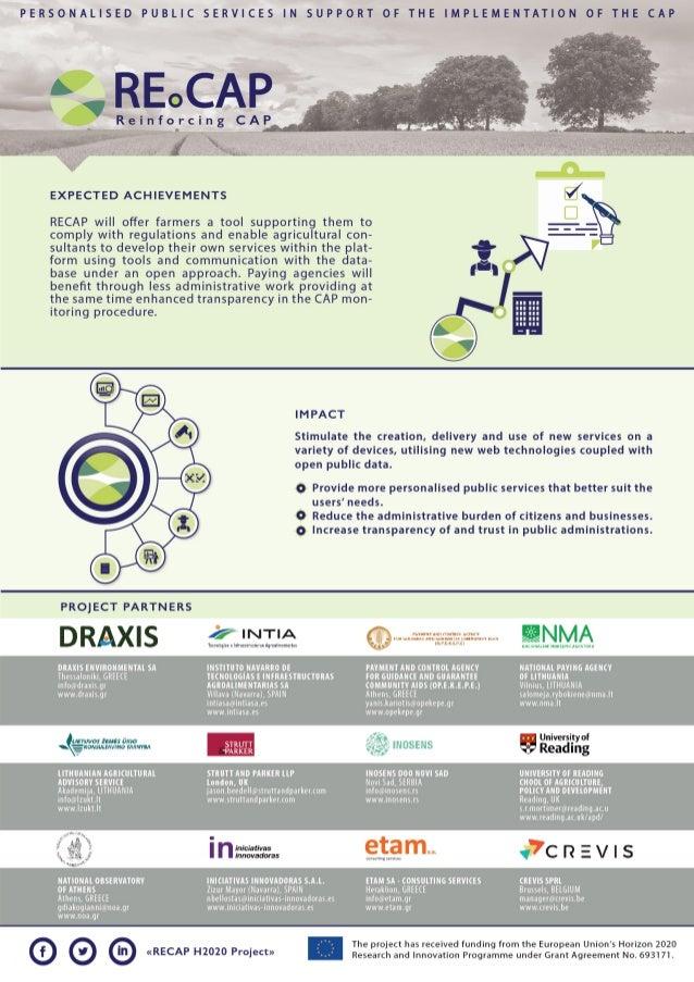 RECAP Horizon 2020 Project - Factsheet