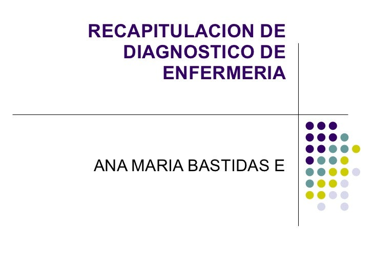 RECAPITULACION DE DIAGNOSTICO DE ENFERMERIA ANA MARIA BASTIDAS E