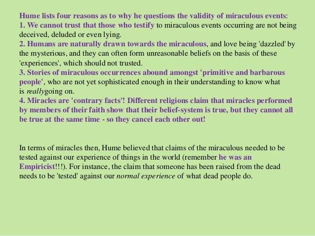 Hume essay on miracles