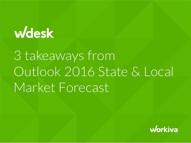 3 takeaways from Outlook 2016 State & Local Market Forecast