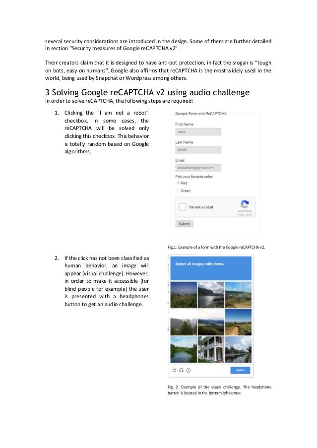 Hacking Google reCaptcha with Google Voice Recognition