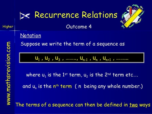 Reccurrence relations