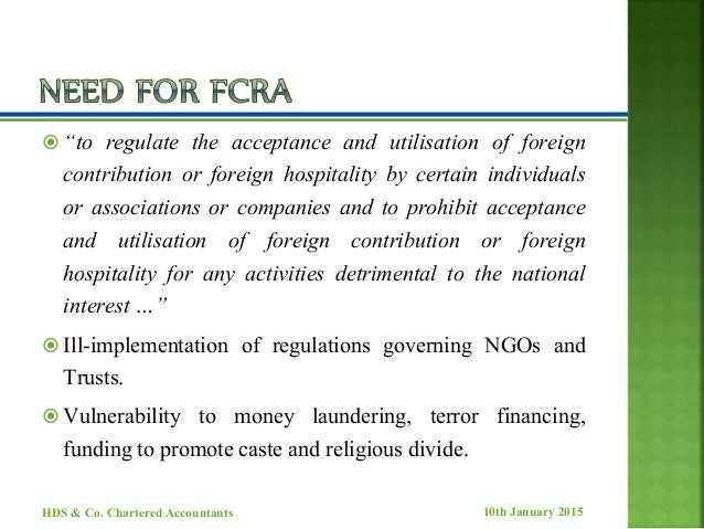 Contributions to NGOs