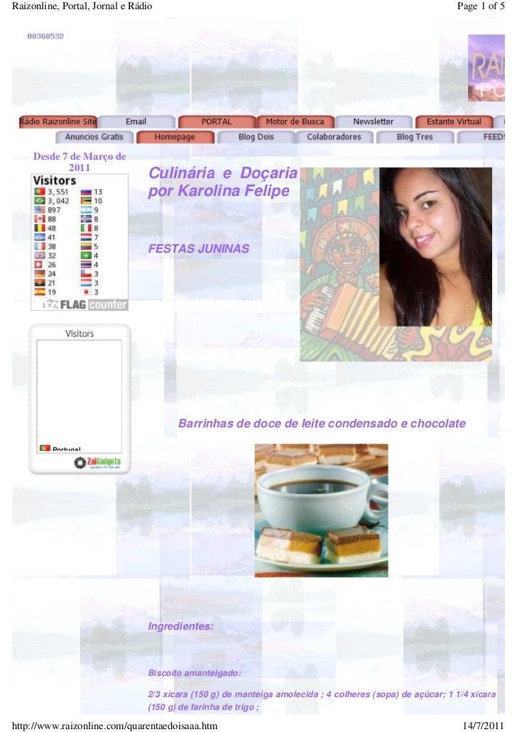 Raizonline, Portal, Jornal e Rádio                                                                        Page 1 of 5     ...