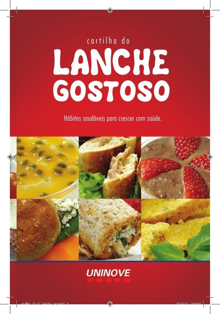 cartilha do                     LANCHE                     GOSTOSO                              Hábitos saudáveis para cre...