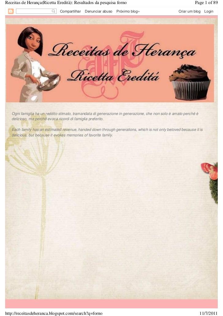 Receitas de Herança(Ricetta Eredità): Resultados da pesquisa forno                                           Page 1 of 89 ...