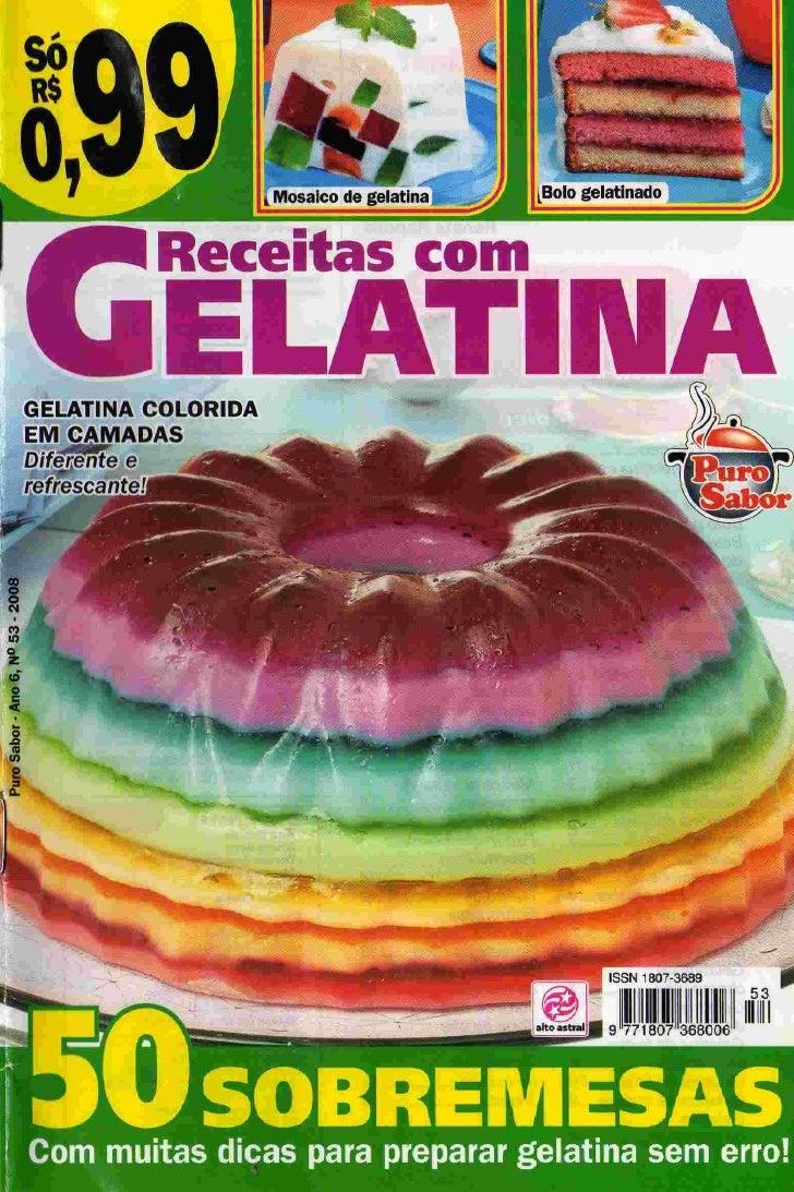 Receitas com gelatina   50 sobremesas n.53