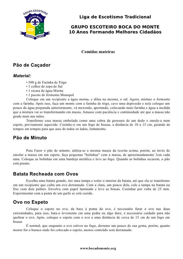 Liga de Escotismo Tradicional                                        GRUPO ESCOTEIRO BOCA DO MONTE                        ...