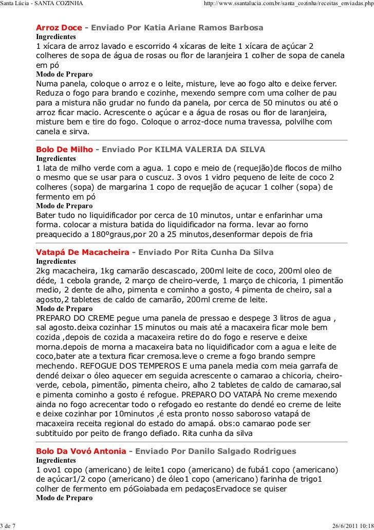 Santa Lúcia - SANTA COZINHA                            http://www.ssantalucia.com.br/santa_cozinha/receitas_enviadas.php  ...