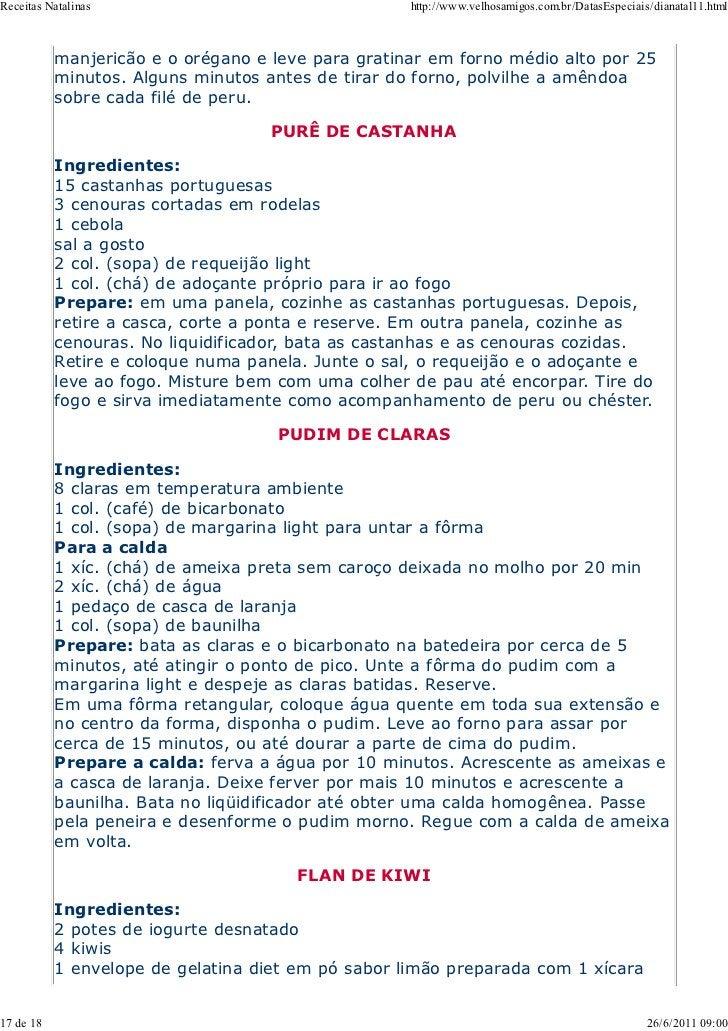 Receitas Natalinas                                  http://www.velhosamigos.com.br/DatasEspeciais/dianatal11.html         ...