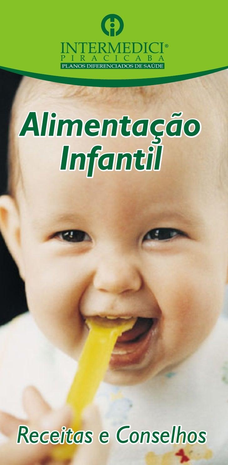 Alimentação    Infantil     Receitas e Conselhos