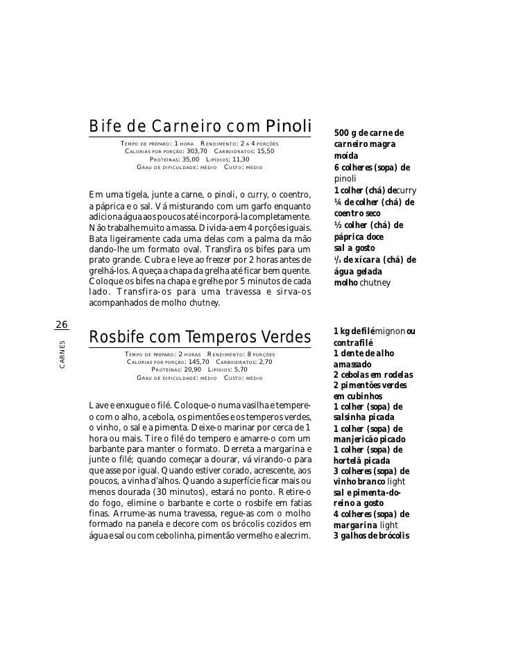 B i f e d e Carneiro com Pinoli                                500 g de carne de                  TEMPO DE PREPARO : 1 HOR...