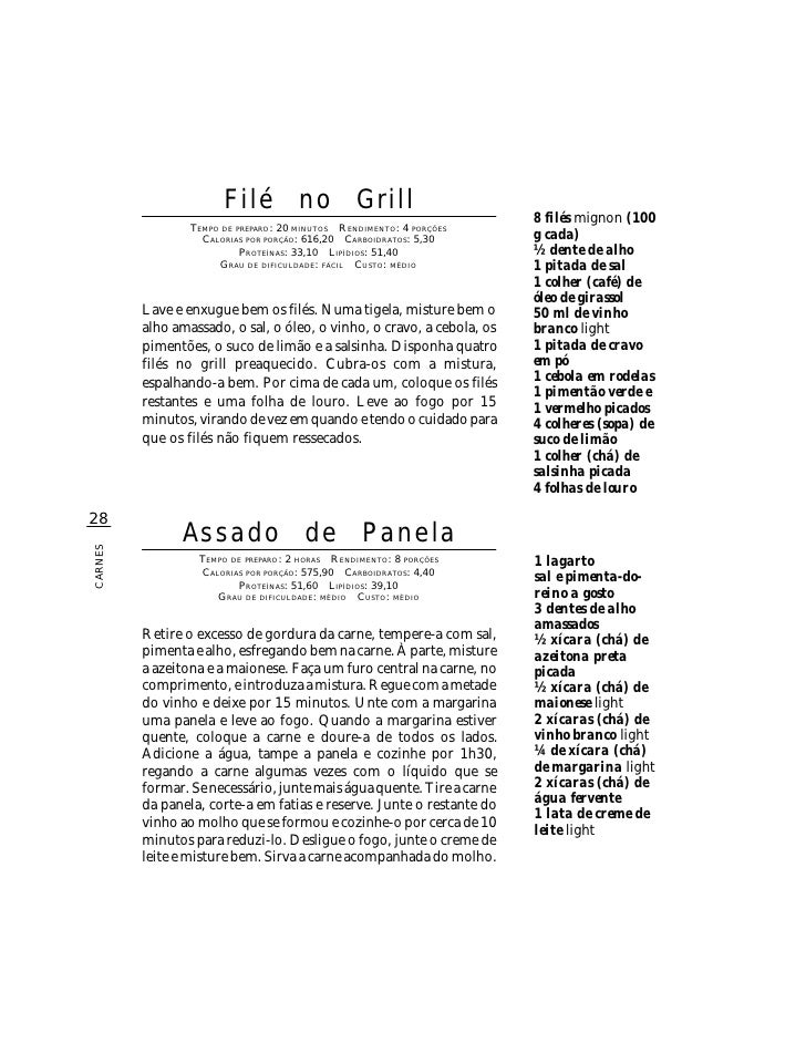 Filé no Grill                                                                         8 filés mignon (100                 ...