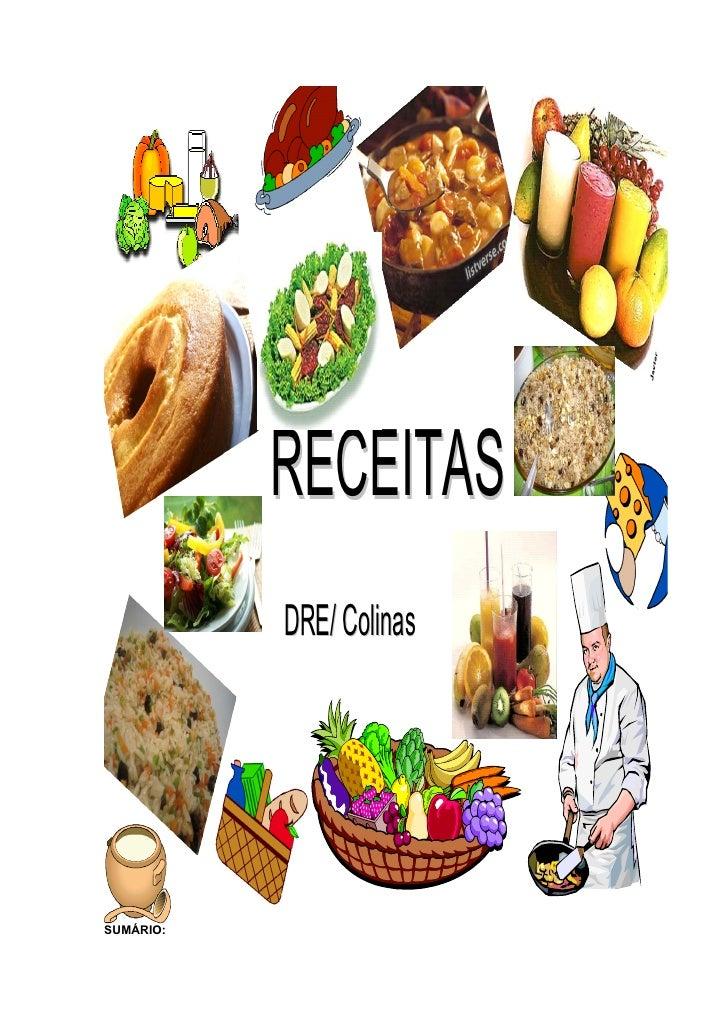 RECEITAS           DRE/ ColinasSUMÁRIO: