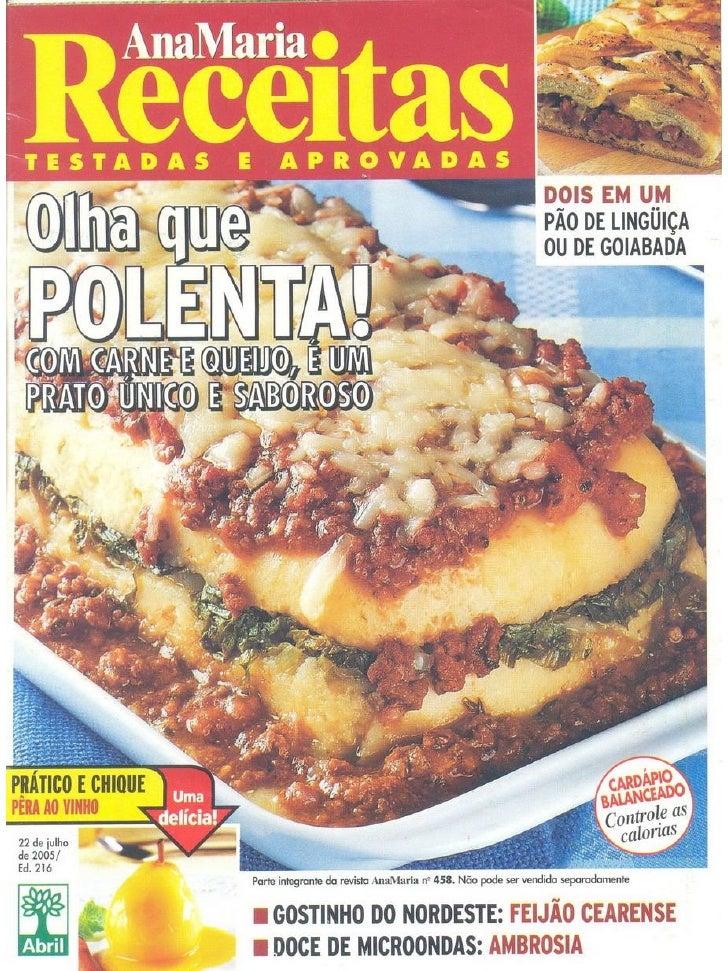 Receitas polenta ana maria receitas 216 lmd
