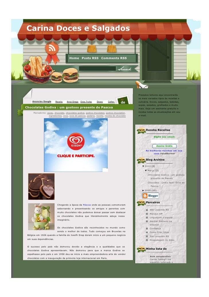 Carina Doces e Salgados  Um blog com deliciosas receitas de doces e salgados.                                             ...