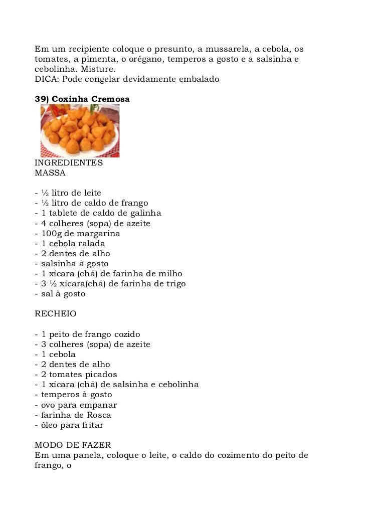 Em um recipiente coloque o presunto, a mussarela, a cebola, os tomates, a pimenta, o orégano, temperos a gosto e a salsinh...