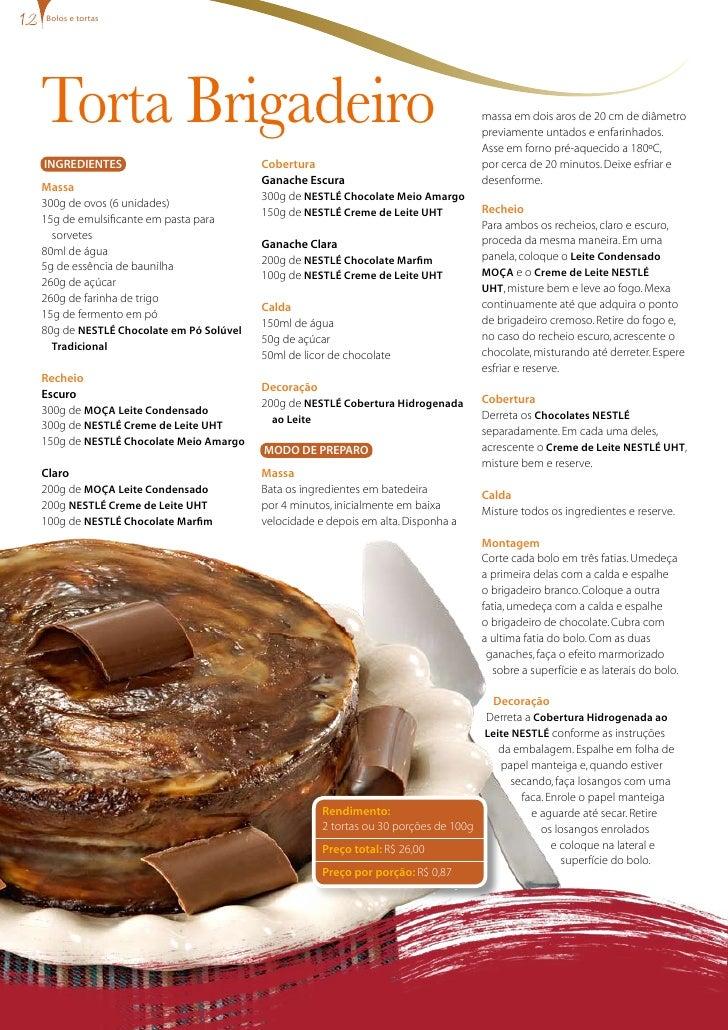 bolos e tortas     Torta Brigadeiro                                                                  massa em dois aros de...