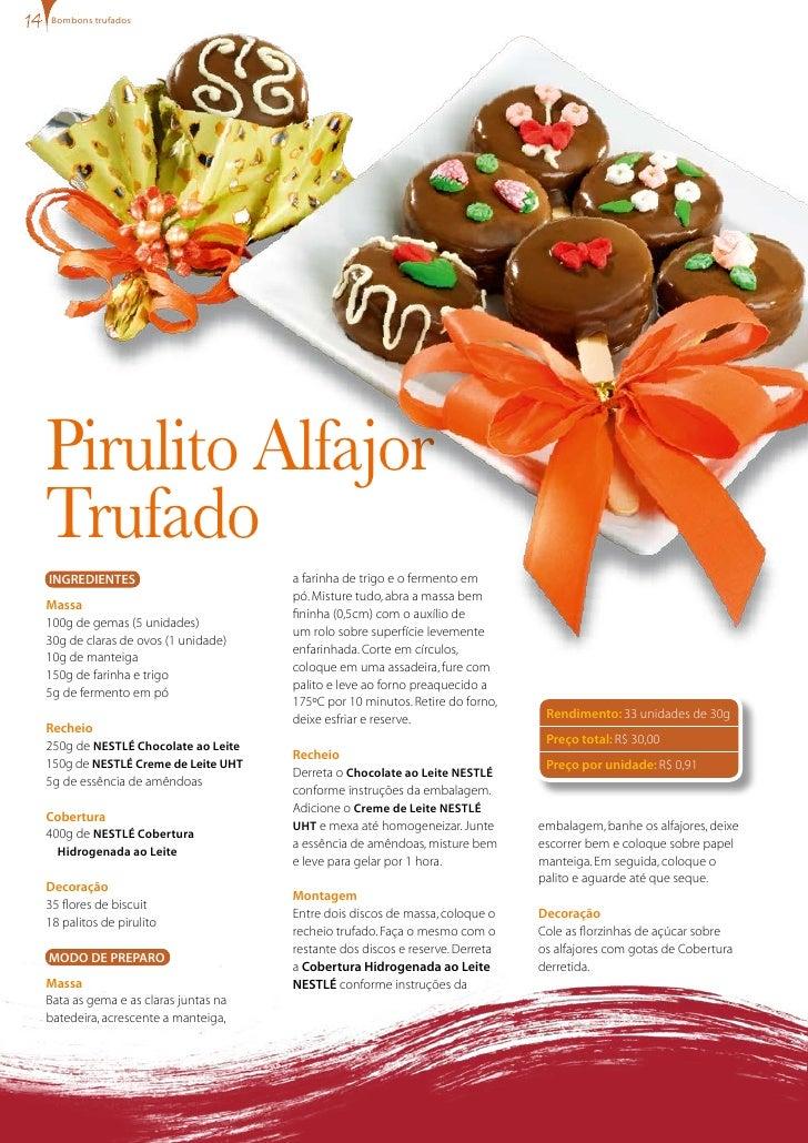 bombons trufados     Pirulito Alfajor Trufado INgREDIENTES                         a farinha de trigo e o fermento em     ...