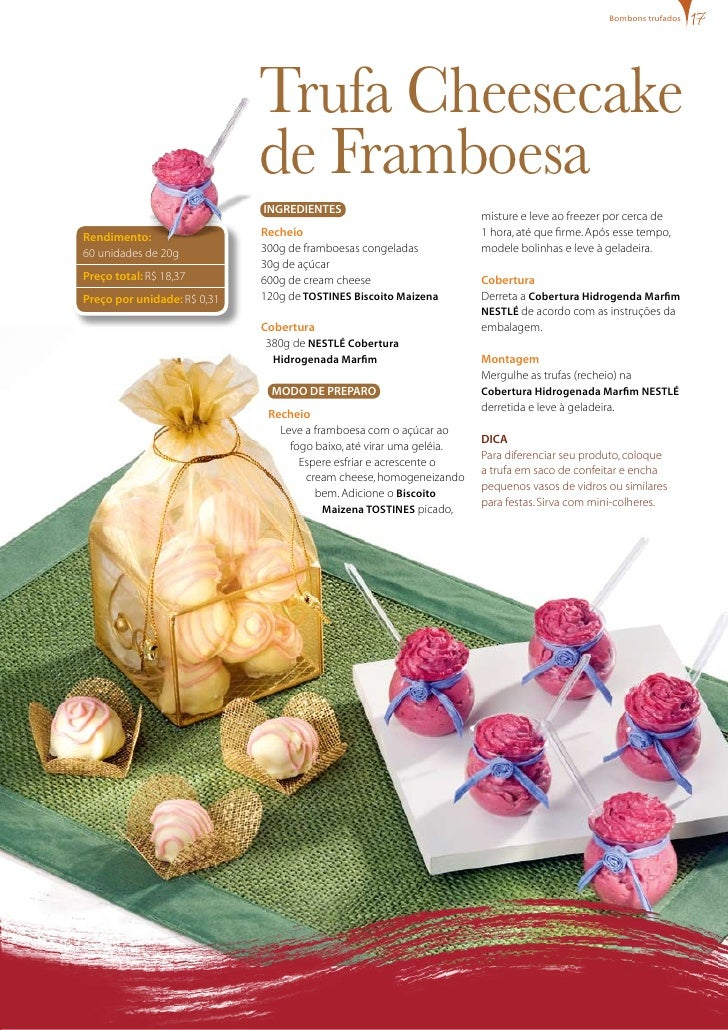 bombons trufados                                  Trufa Cheesecake                              de Framboesa              ...