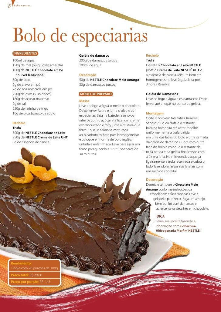 bolos e tortas      Bolo de especiarias  INgREDIENTES                                      geléia de damasco              ...
