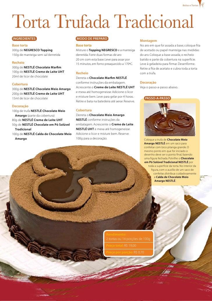 bolos e tortas     Torta Trufada Tradicional INgREDIENTES                             MODO DE PREPARO                     ...