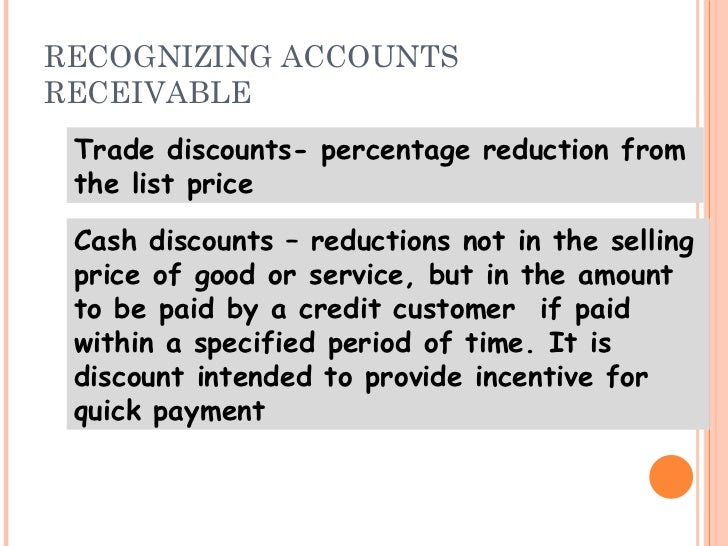 Trade receivables discounting system means