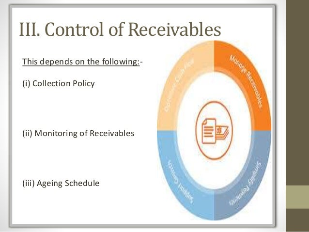 receivables management Importance of receivables management  allowing credit to customers will encourage sales, or at least the absence of the availability of credit will encourage.