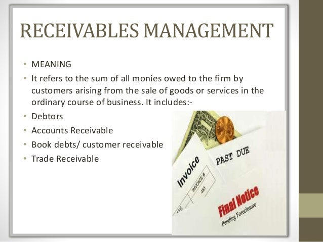 introduction for receivables management Introduction 11 introduction to the study a sale of credit is an evitable necessity in the business world of today  project report on receivables management .