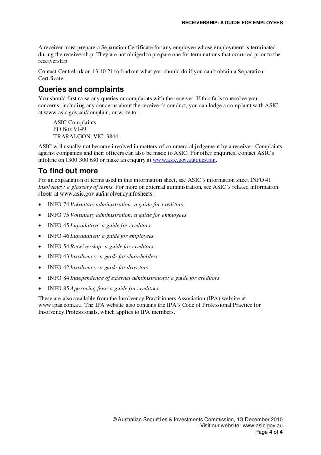Information Sheet 45 Liquidation: a guide for creditors