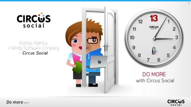 DO MORE with Circus Social 1 Kickass Agency + Nerdy Software Company = Circus Social