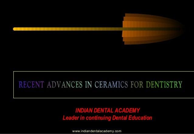 Recent advances in ceramics for dentistry/ dental implant