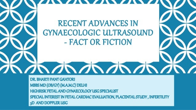 Recent advances in gynecologic usg