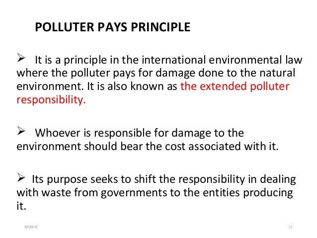the polluter pays principle essay To what extent does the contaminated land regime in england reflect the polluter pays principle the contaminated land regime (clr) has.