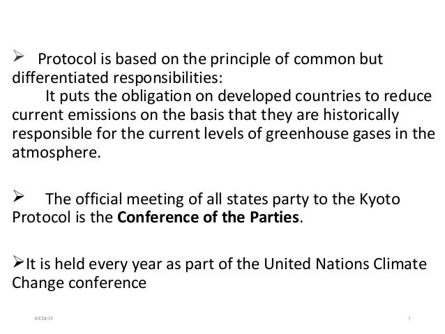 kyoto protocol a treaty on climate change that commits parties to reduce greenhouse gases emission Commitment under the kyoto protocol (annex b parties)  convention on climate change  reduce the emission of greenhouse gases by contributing to.