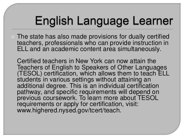 Recent Changes to ELL Programming and Regulations in New York State