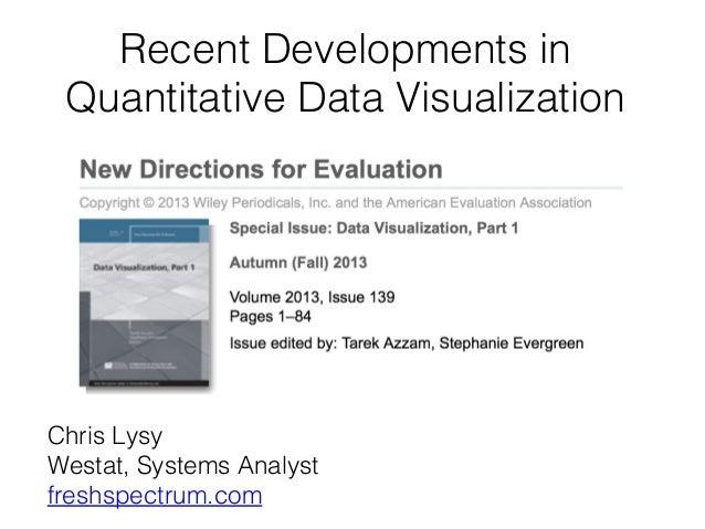 Recent Developments in Quantitative Data Visualization  Chris Lysy Westat, Systems Analyst freshspectrum.com